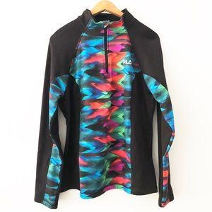 [FILA Sport] Multicolored 1/2 Zip Sweat Shirt